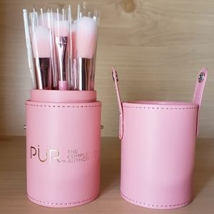 New PUR Cosmetics Pink Brush Set With Case